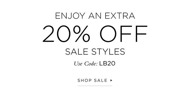 20% Off Sale Styles
